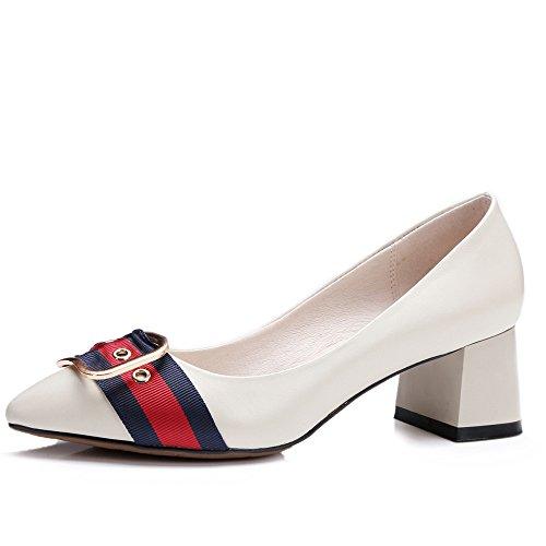 Zapatos beige con hebilla para mujer Liquidación Ebay kpU0u