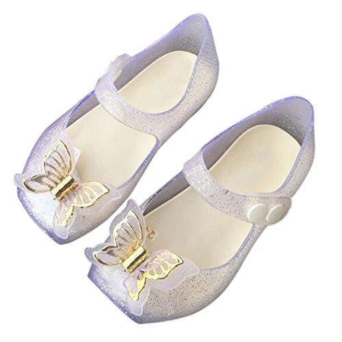 Meijunter Baby Jungen Anti-Rutsch Bowknot Lässige Weich Gelee Ballett Flache Schuhe Kleinkind Kinder Beach Stranden Regen Stiefel Silber