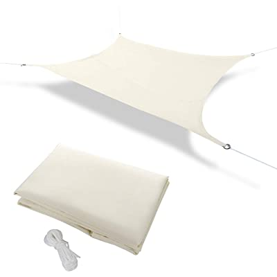 Pannow 8' x 10' Rectangle Sun Shade Sail, UV Block Waterproof Sail Awning Canopy for Outdoor Patio Garden, Off White : Garden & Outdoor