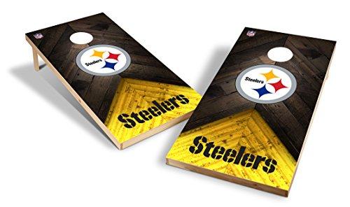 Steelers Game Pittsburgh - Wild Sports NFL 2'x4' Pittsburgh Steelers Cornhole Set