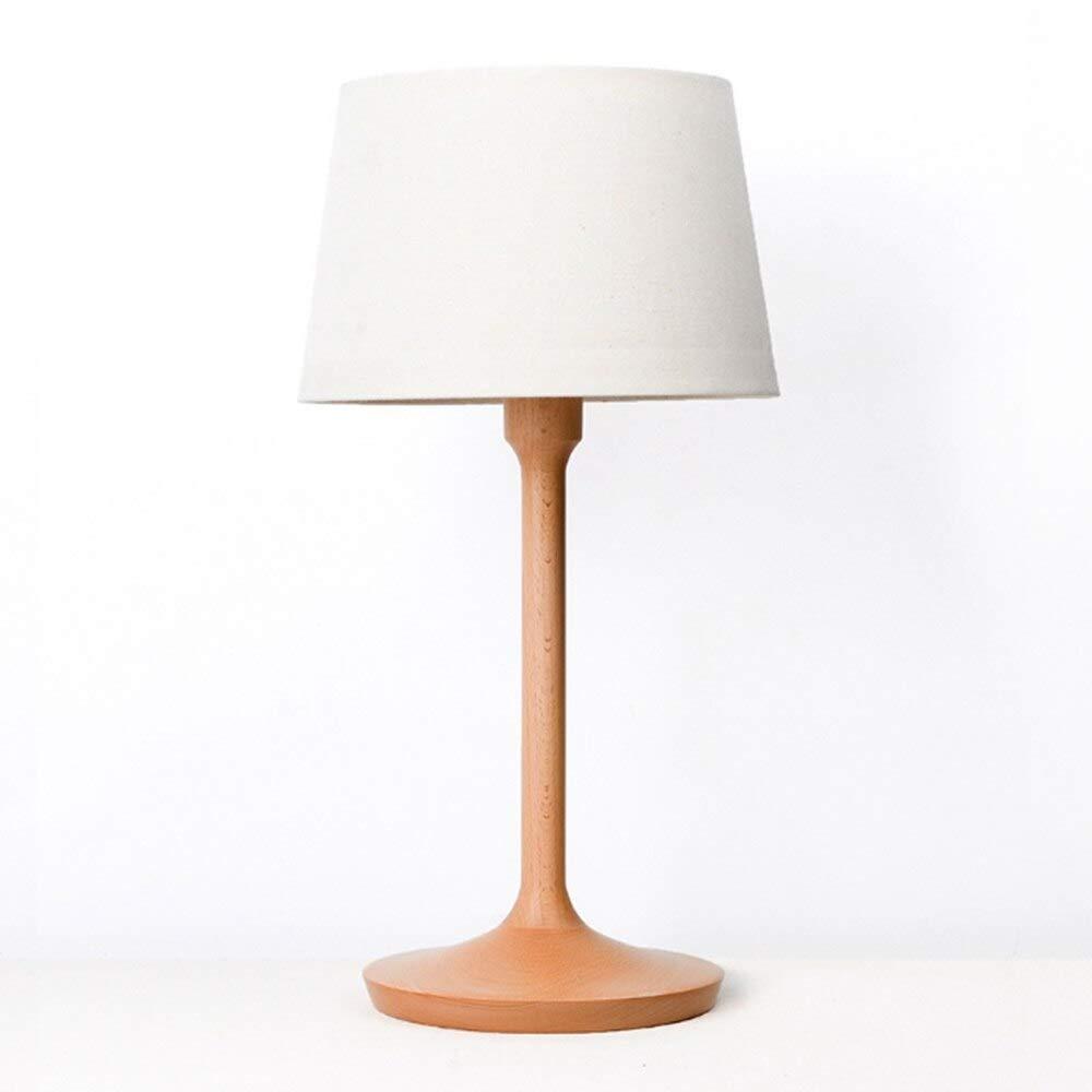 Micro Lámpara de mesa con Lámpara de mesa Led de madera Pantalla ...