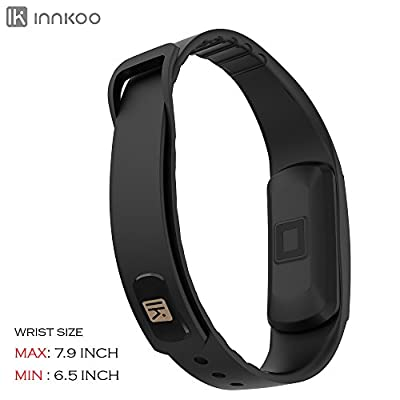InnKoo H09 Waterproof Fitness Tracker Pedometer Watch Band with Dynamic Heart Rate Monitor Calories Counter Smart Sports Bracelet Wristband Activity and Sleep Monitor with Touch Screen (Red)