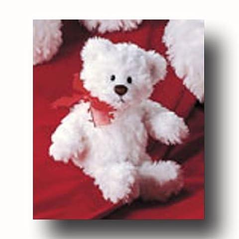 Kismet White Plush Valentine Bear by Gund - Gund White Teddy Bear