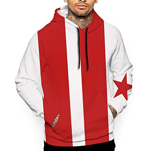 Men's Washington DC Flag Hoodies Sweatshirts Pullover Print 3D Sweaters Fashion Cozy Navy