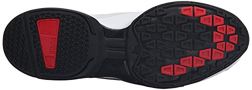 PUMA Men's Tazon 6 FM Puma White/ Puma Black/ Puma Silver Running Shoe - 7.5 D(M) US