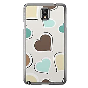 Loud Universe Samsung Galaxy Note 3 Love Valentine Printing Files A Valentine 133 Printed Transparent Edge Case - Multi Color