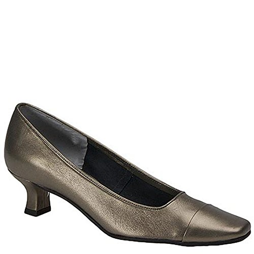 Pewter Toe Womens Leather Rickie VANELi Classic Pumps Closed Hw70dqI