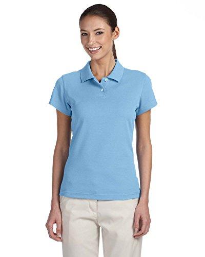 adidas Golf Ladies climalite Tour Piqué Short-Sleeve Polo, 2XL, TIDE/WHITE (Adidas Polo Classic Shirt)