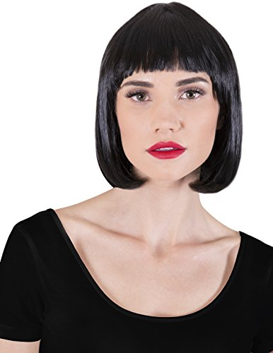 Kangaroo's Halloween Accessories - Super Model Wig - Costumes With Black Bob