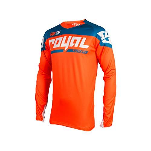 - Royal Racing Victory Race Long-Sleeve Jersey - Men's Orange/Diesel, L