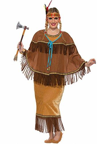 Plus Size Pocahontas Adult Costumes (Forum Women's Native American Costume, Multi/Color, Plus)