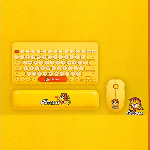 Rm.Baby Mini Wireless Mouse and Keyboard Set, for Desktop, Comput with 2.4G Wireless Technology 20 Meters Range Cartoon Cute Keyboard Set for Kids and Boys