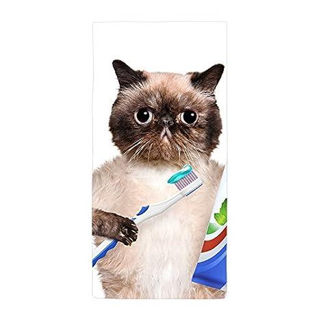 Río Gato cepillos su dientes toalla toalla de baño toalla de playa de microfibra, Blanco1