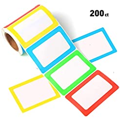 FANGTEK Colorful Plain Name Tag Labels 3...