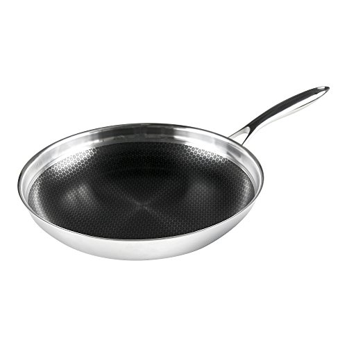 Frieling BC132 Black Cube Hybrid Nonstick Cookware Fry Pan, 12.5'', Stainless by Frieling