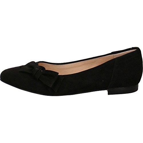 Caprice Damen 22107 Geschlossene Ballerinas Black Suede