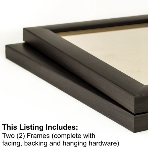 Craig Frames 23247778 12 by 12-Inch Picture Frame 2-Piece Set, Smooth Finish, 1-Inch Wide, Brazilian Walnut New Contemporary Walnut Finish Wood