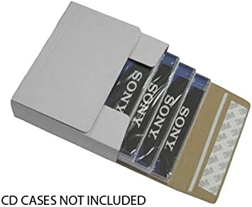 mediaxpo - Caja de cartón para 10 CD (autoadhesiva, para envío de 1 a 4 CDs en Cajas de Joyas): Amazon.es: Electrónica