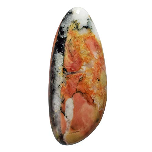(RAVISHINGGEMS Natural Red Snakeskin Jasper Cabochon, Size 31x13x4 MM, Jewellery Making, Pendant Stone, Crafts Suppliers, Handmade, 20339)