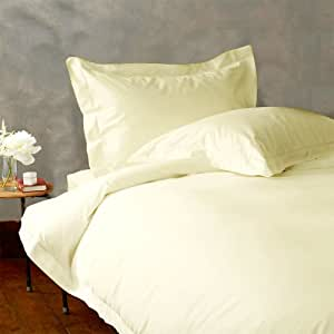 Lacasa Bedding Extra Luxurious Egyptian cotton 22 Inches Deep Pocket Sheet Set 600 TC Solid (Cal-King , Ivory )