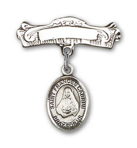 Icecarats Créatrice De Bijoux En Argent Sterling St. Charme Francesca Cabrini Broches Badge Arc 7/8 X 7/8