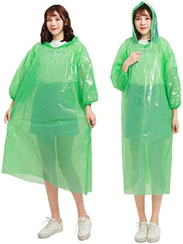Doremy 使い捨て レインコート 透明 携帯用 軽量 雨具 保護服 防災グッズ 飛沫感染予防 旅行用 自転車用 緊急用 通勤 通学 男女兼用 10枚入