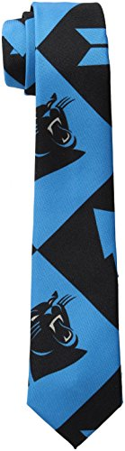 FOCO Carolina Panthers Patches Ugly Printed Tie - Mens by FOCO