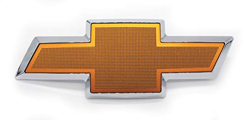 Custom Install Parts Front Grille Bowtie Emblem Gold Compatible with 2003-2007 Chevrolet Avalanche Silverado ()