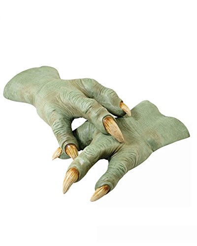 Star Wars Revenge Of The Sith Deluxe Yoda Hands, Green, One Size ()