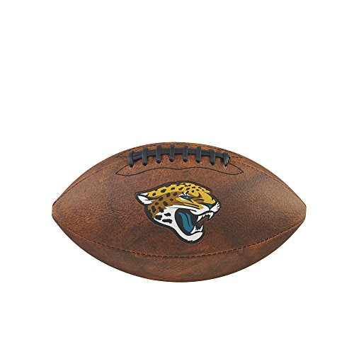 NFL Junior Throwback Team Logo - Balón de fútbol Jacksonville Jaguars