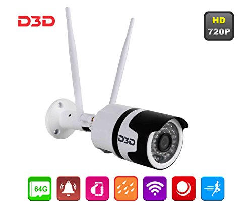D3D Security Wireless 720P HD Outdoor Waterproof IP Wifi CCTV Model:D8017X IP Bullet 720 - Bullet Camera Weatherproof Micro