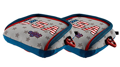 (BubbleBum Backless Inflatable Booster Car Seat, Twin Stars & Stripes Bundle)