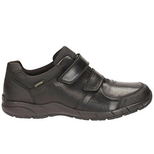 Leather GTX in Black Shoes TraxFun Boy's Black BL Clarks School 4WRazqRZ