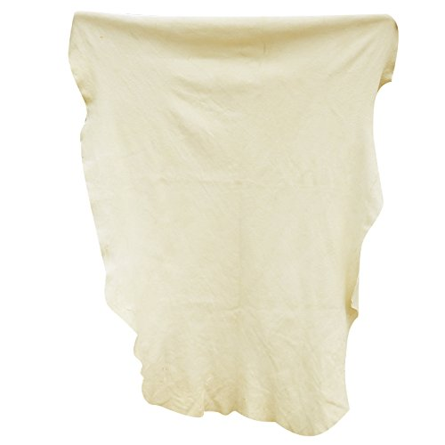 (KinHwa Car Chamois Drying Towel Natural Chamois Cloth for Car Leather Super Absorbent Leather Cleaning Cloth 23.6inchx35.4inch)