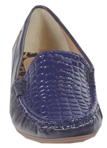 Prägung 40 37 Büro 41 Blau Mokassins Cocktail Business Croco Schuhe UNI Balerinas Slipper 38 36 39 Farben Lack mit Damen Ocala YUqCn