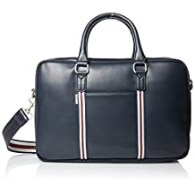 Ben Sherman Men's Iconic Briefcase Commuter Bag, Navy