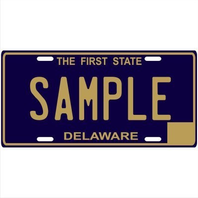 Custom Personalized Metal License Plate Your Name Your State - Choose from all 50 States (Delaware, 6