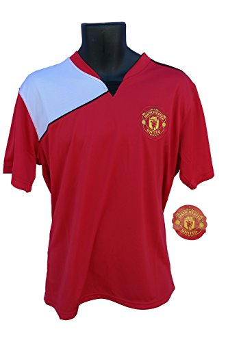 Manchester United FC Soccer Official Adult Soccer Training Performance Poly Jersey Rhinox-05 Small