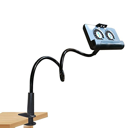 Phone Holder Flexible Gooseneck Stand Lazy Mount Holder Cell Phone Radiator with 4400ma Power Bank for iPhone X/8/7/6/6s Plus Samsung S8/S7 for Bed Desktop Office Kitchen ()