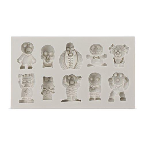 Beasea Silicone Halloween Chocolate Mold Skull Skeleton Cand