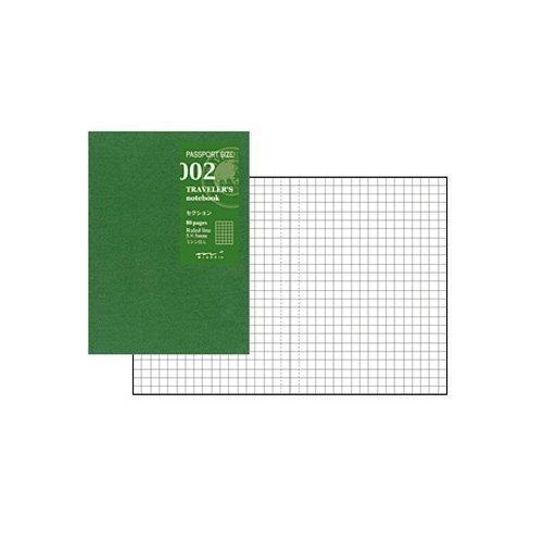 Midori Traveler's Notebook (Refill 002) Graph Passport Size