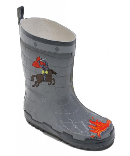 Kidorable Dragon Knight Rain Boot 5 M US Little Kid Grey