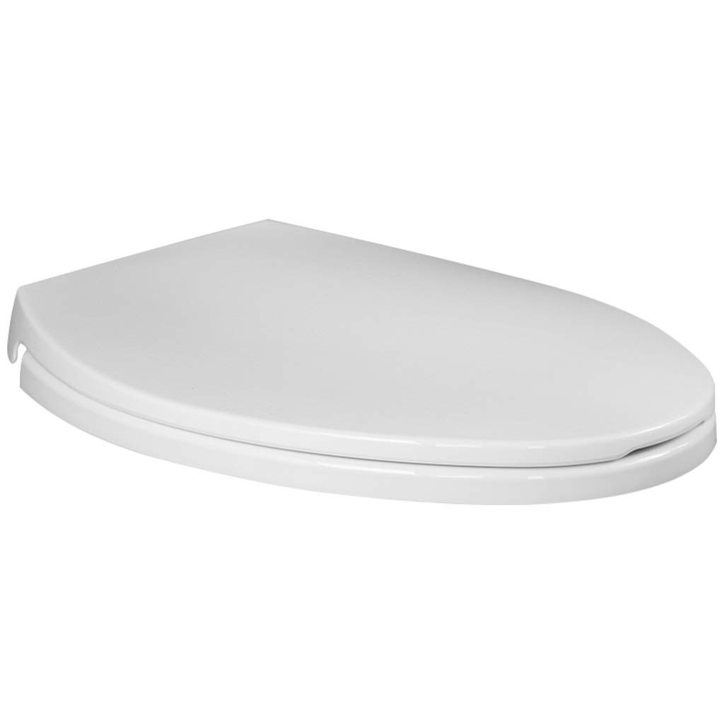 OUMTG Toilet Seat Cover Quiet Thicken White Fast PP Board Toilet Lid Easy To Clean Slow Down V Type
