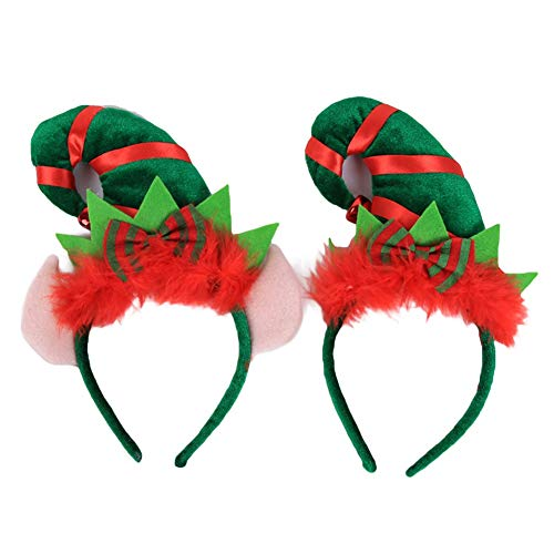 ACTLATI 2PCS Christmas Tree Headband Party Hats for Halloween Christmas Easter Party for $<!--$10.99-->