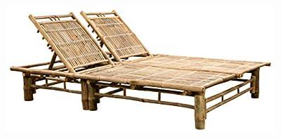 PROGLEAM Sun Lounger, 2-Person Sun Lounger Bamboo