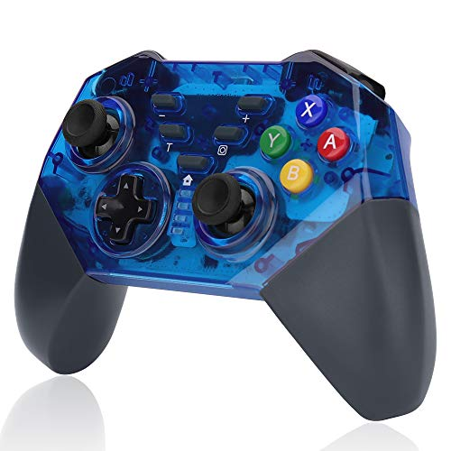 WILLGOO Wireless Switch Pro Controller, Support:Gyro Motion Controls Dual Shock,Great for Nintendo Switch Zelda/Splatoon 2/Star Allies/Mario Odyssey etc. (Blue)