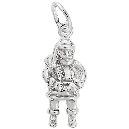 (Rembrandt Charms Santa Charm, Sterling Silver)