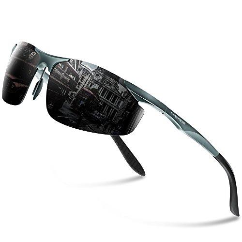 PAERDE Men's HOT Fashion Driving Fishing Golf Polarized Sunglasses for Men Al-Mg Metal Frame Ultra Light PA03 - Best On Sunglasses Polarized Deal