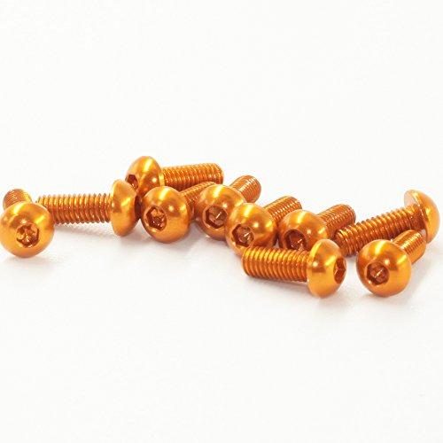 M3x16mm Button - M3x16mm Button Head Socket Cap Screws,Aluminum Alloy,Copper,Anodic Oxidation,20 pieces