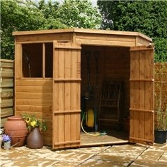 Oxford: 7 pies x 7 ft presupuesto lengua y Groove esquina cobertizo: Amazon.es: Jardín